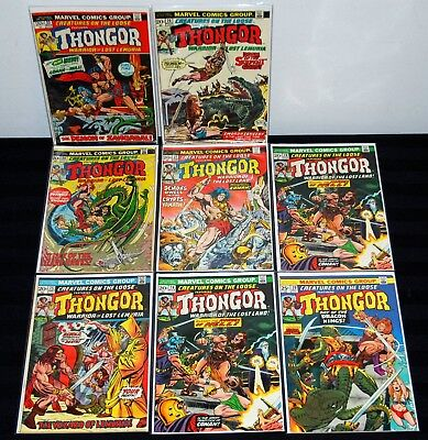 1973 Creatures On The Loose Thongor 22 24 25 26 27 28 29 Set Run Lot Fn To Vf B2