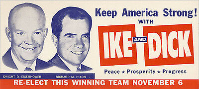 1956 Eisenhower Nixon KEEP AMERICA STRONG Campaign Brochure (4421)