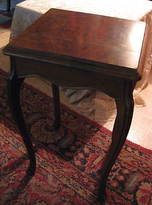 "Antique Tuscan Table-Walnut/Mahogany? Wood-12.5""x13.5""x21.5"""