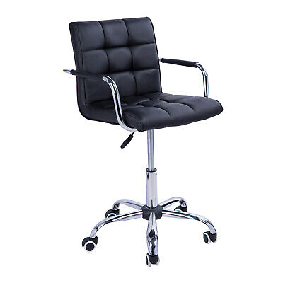 Office Chair PU Leather Swivel Adjustable Computer Desk Armchair High Back Wheel