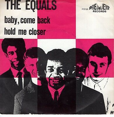 7inch THE EQUALS Baby come back HOLLAND  1968 EX (S1911)
