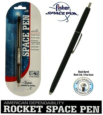 Fisher Space Pen #SPR84 / Black Rocket Series Pen With Black Ink