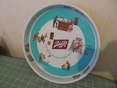 Schlitz Beer/Bar/Alcohol tray Tin Litho GREAT CONDITION Gusto in a Light Beer