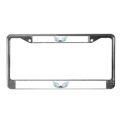 CafePress - Your Very Own Angel Wings - Chrome License Plate Frame