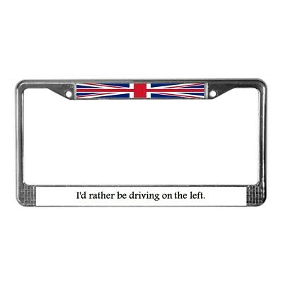 CafePress British Virgin Islands Flag Aluminum License Plate Standard