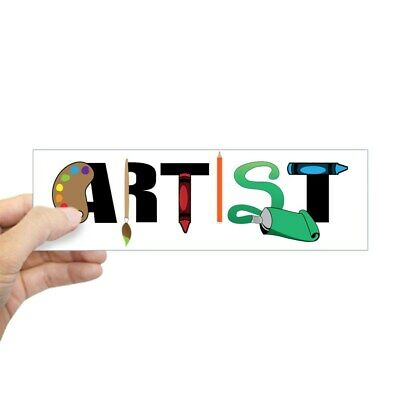 "CafePress - Artist - 10""x3"" Rectangle Bumper Sticker Car Decal"