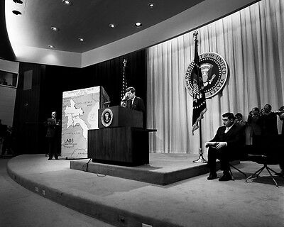 President John F Kennedy laughs at press conference New 8x10 Photo