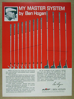1972 Ben Hogan Master System Golf Clubs Irons Woods vintage print Ad