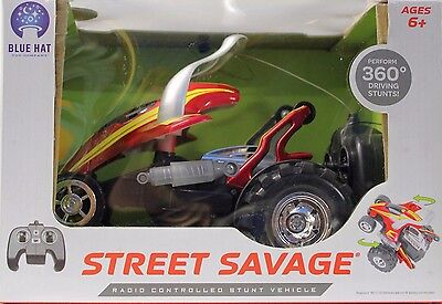 Blue Hat Wireless Radio Remote Control Street Savage Stunt Car 360 Degree Stunts