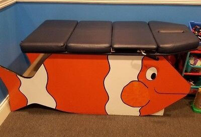 Clown Fish Theme Custom Pediatric Chiropractic Kid Size Adjusting Table