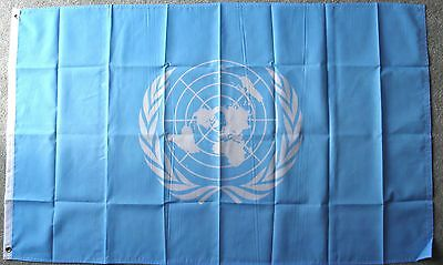 United Nations Un Polyester Flag  3 X 5 Feet