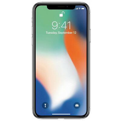 Apple iPhone X 64GB Silver AT&T LTE Cellular GSM MQAK2LL/A