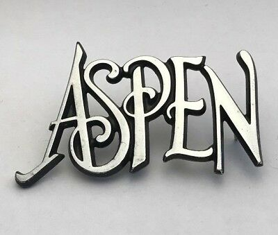 Vintage 1976 1977 1978 1979 1980 Dodge Aspen Emblem Nameplate Badge Chrome Used