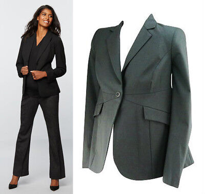 A Pea In The Pod Maternity Black Wool Blend Career Suit Jacket & Pant Size M
