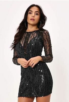 Naanaa Sequin Lace Maxi Dress With Thigh Split Silver Grey