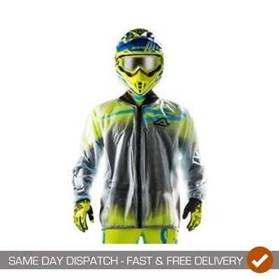 Acerbis Motocross MX Enduro Off Road Waterproof Rain Mud Jacket - Clear