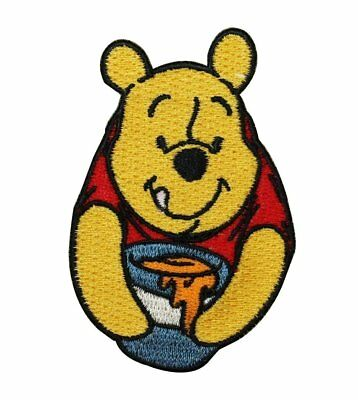 Disney Pixar Winnie The Pooh Bear Patch Iron On Sew-On Embroidered Applique