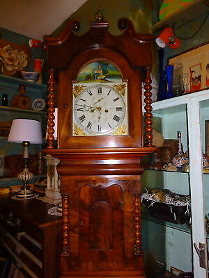 A Victorian Oak And Mahogany Cased 8-Day Long Case Clock