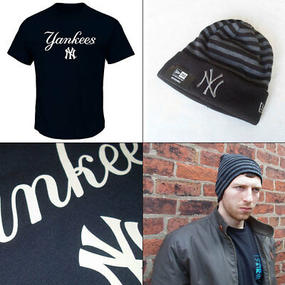 New York Yankees Officially Licenced [Med or Large] MLB T shirt + Knit Hat