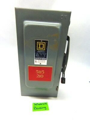 Square D, Safety Switch, Hu-362, Ser.e1, 60A, 600V, 3Ph, Single Throw