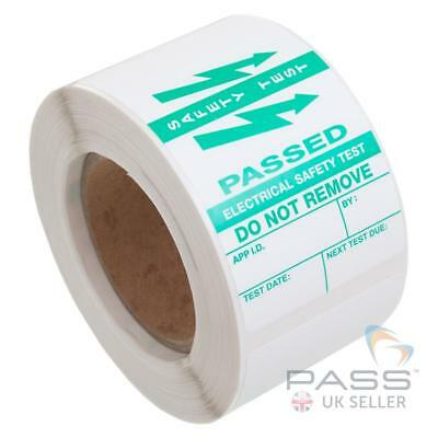 250 x PAT Testing Vinyl Appliance Cable Wrap Labels - Passed