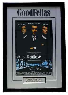 Goodfellas 30x20 Custom Framed Movie Poster Photo Display Liotta Pesci Deniro