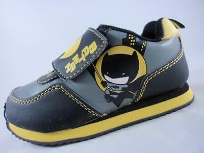 f38269e839f2 Boy s Toddler DC COMICS BATMAN Black+Gray+Yellow Athletic Sneakers Shoes NEW