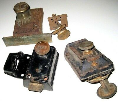 Mixed Lot of Antique OLD Vintage Door Locks Salvage Hardware by YALE & Fraim