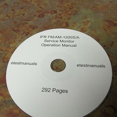 IFR FM/AM-1200S/A Service Monitor Operation Manual