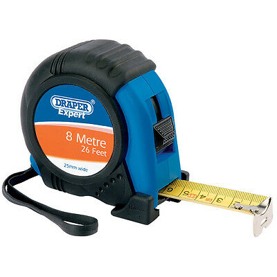 Draper Rugged Tough Tape Measure 8m 26ft 25mm Wide Blade 45424