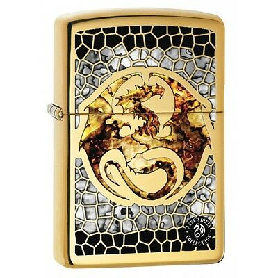 Zippo 0057, Anne Stokes-Dragon, Fusion, High Polish Brass Finish Lighter