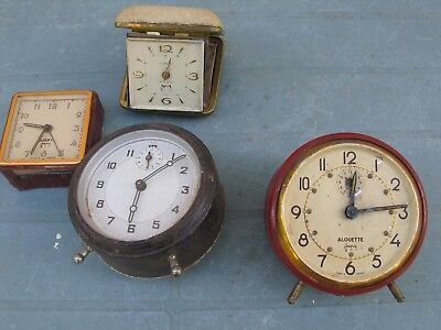 Four Clocks Not Working  - For Parts.
