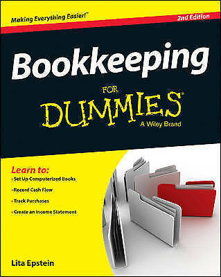Bookkeeping For Dummies by Epstein, Lita, NEW Book, (Paperback) FREE & Fast Deli