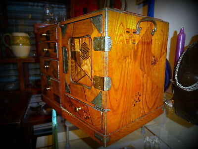 Beautiful 19th Century Japanese Marquetry Cabinet with Drawers