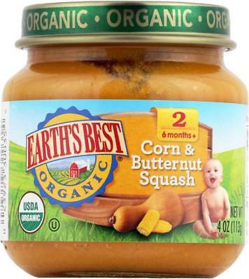 Earth'S Best Organic Corn And Butternut Squash Baby Food Stage 2 4 … Bulk Pk Lot