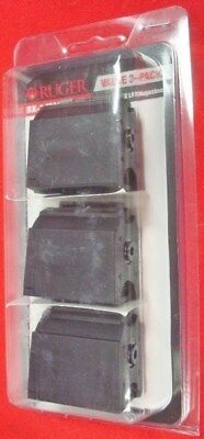 3  Ruger 10/22  BX-1  black 10 rnd magazine s # 90451 factory new 3 mag pack BX1