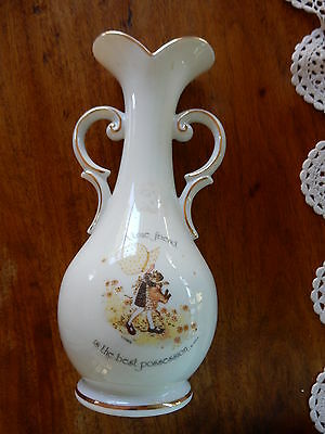 Vintage Holly Hobbie Yellow Girl  Vase