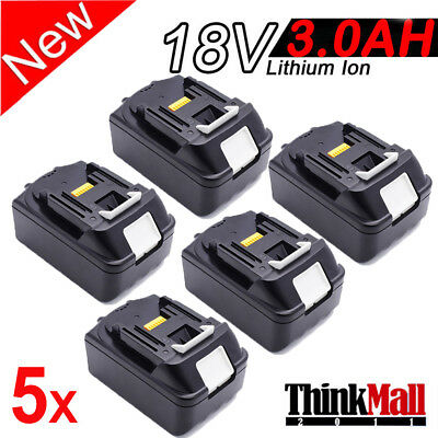 5 X 3.0Ah 18V Lithium Ion Battery LXT For Makita BL1815 BL1830 Replace 18 Volt