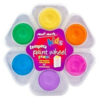 Mont Marte Tempera Paint Wheel 6pce - PASTEL Watercolour