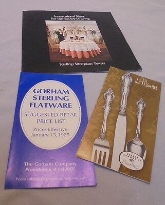 Gorham Sterling, Oneida Sterling, International, Publication & Prices 1973-75