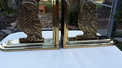 SOLID ART BRASS  OWL BOOK ENDS, ORNAMENT 15cm TALL, 2kg 51421