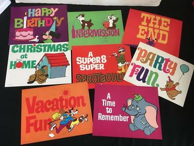 1960s Walt Disney Productions full title color cards Mickey Mouse 11 x 9 vintage