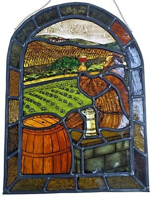 """LEADED GLASS WINDOW Image Older Championship Stained Glass """" weingenieser """""""