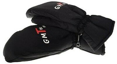 GMTee Thermal Winter Golf Mitts Fleece Lined Water Resistant Gloves Black