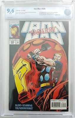 Iron Man #304 CBCS Graded 9.6 1st Hulkbuster Armour Marvel Avengers first Armor