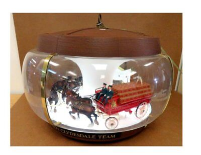 Vintage Budweiser Clydesdale Carousel  Lighted Motion Rare