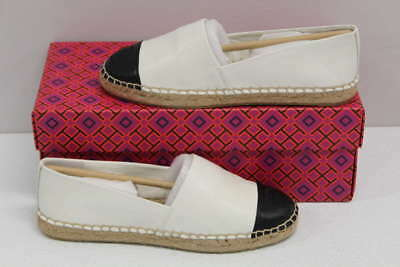 a9dd2a7c005fd6 Tory Burch Women s Size 6 Color Block Flat Espadrille In Ivory Black  51158649