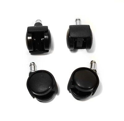 """Set of 4 Office Chair Style 1"""" Swivel Casters 1 inch"""