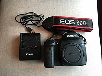 Canon EOS 80D Digital SLR Camera Body (Black) Shutter:389