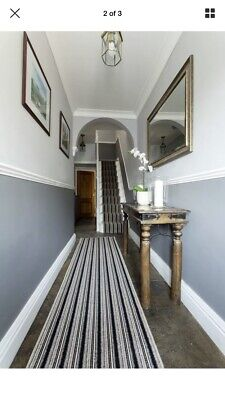 Carpet Hallway Or Stair Runners 2 Foot Wide Black Stripe